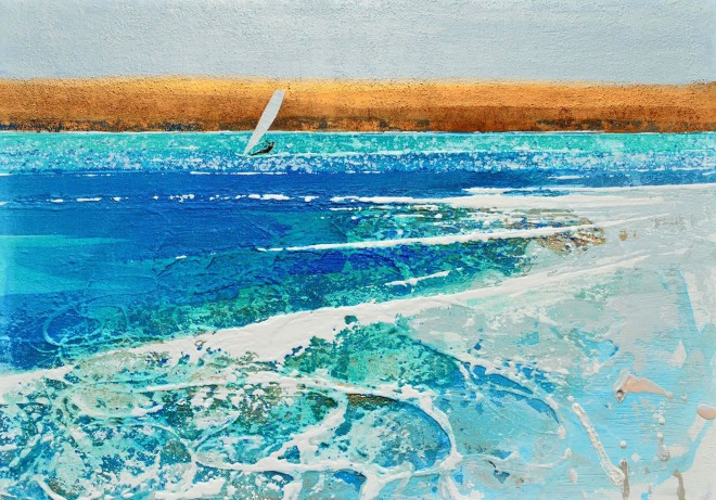 Breezy Summer's Day at Daymer Bay - Windsurfer Painting - Cornwall - Reserved