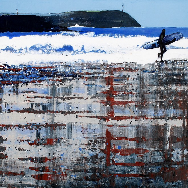 Polzeath Beach - Winter Reflections.