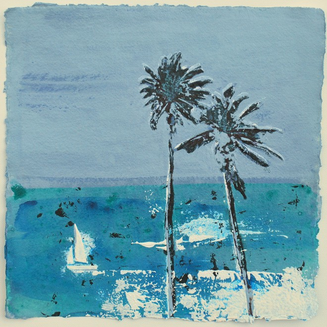 Porthminster Beach, St. Ives - Boats and Palms