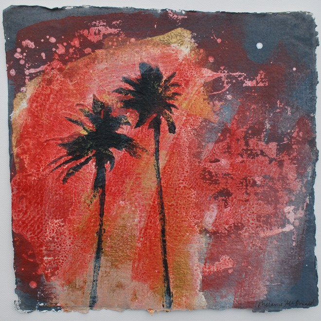 Summer Night with Palm Trees