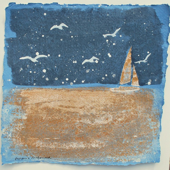 Evening sail and gulls, St. Mawes £85