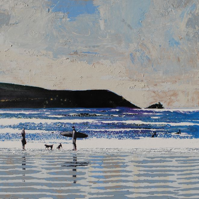 Fistral Beach, Newquay, Cornwall - We stood on the beach in the wild air...