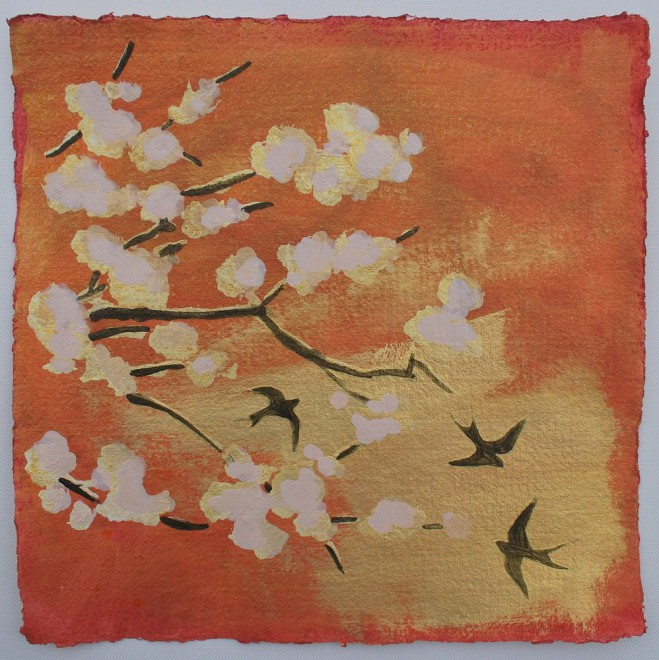 Swallows and blossom No. 2 - £85